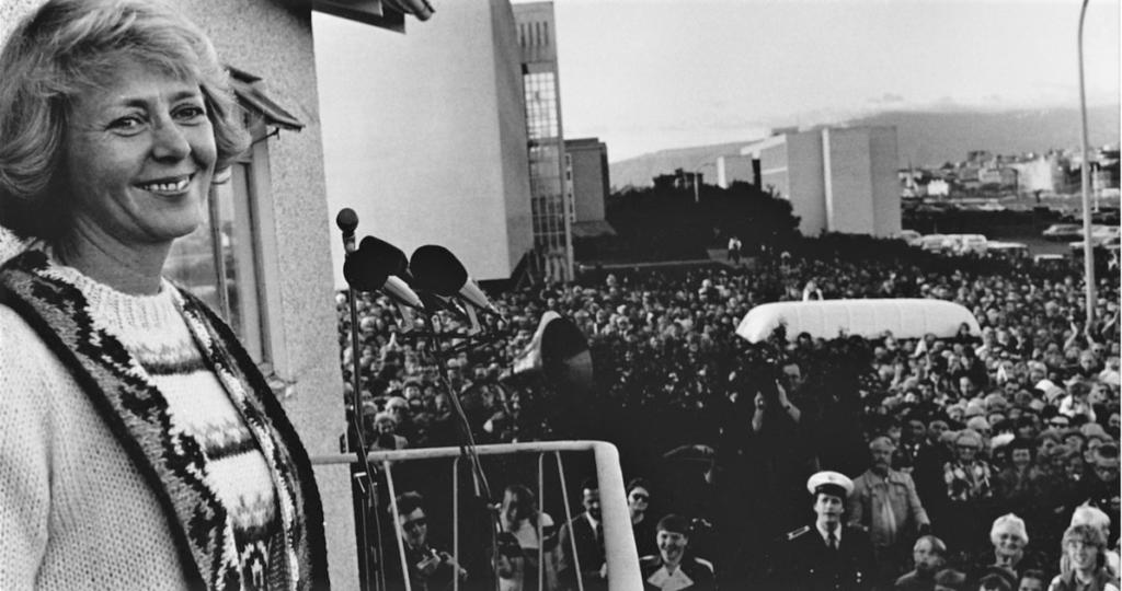 Vigdís Finnbogadóttir nýkjörin forseti Íslands árið 1980